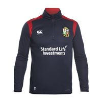 Canterbury British and Irish Lions Rugby Thermal Layer 1/4 Zip Fleece - Adult - Peacoat