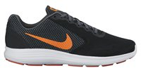 Nike Revolution 3 Running Shoes - Mens - Black/Total Orange/Dark Grey