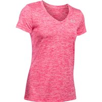 Under Armour Twist Tech V-Neck Short Sleeve Tee - Womens - Knock Out