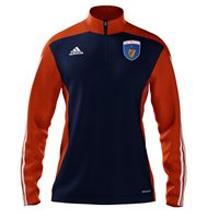 adidas Mi County Armagh GAA Mi Team 14 Quarter Zip - Adult - New Navy/Collegiate Orange/White