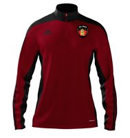 adidas Mi County Down GAA Mi Team 14 Quarter Zip - Adult - University Red/Black