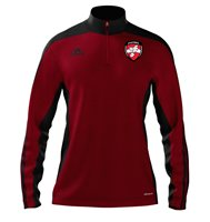 adidas Mi County Derry GAA Mi Team 14 Quarter Zip - Youth - University Red/Black