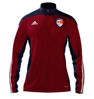adidas County Carlow GAA Mi Team 14 Quarter Zip - Adult - University Red/New Navy/White