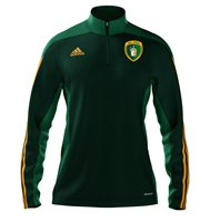 adidas County Meath GAA Mi Team 14 Quarter Zip - Adult - Forest Green/Twilight Green/Collegiate Gold