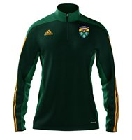 adidas County Leitrim GAA Mi Team 14 Quarter Zip - Youth - Forest Green/Twilight Green/Collegiate Gold