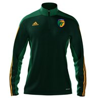 adidas Mi County Kerry GAA Mi Team 14 Quarter Zip - Youth - Forest Green/Twilight Green/Collegiate Gold