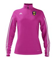 Adidas County Cavan GAA Mi Team 14 Quarter Zip - Womens - Intense Pink/White
