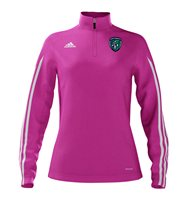 Adidas County Fermanagh GAA Mi Team 14 Quarter Zip - Womens - Intense Pink/White