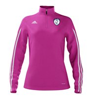 Adidas County Kildare GAA Mi Team 14 Quarter Zip - Womens - Intense Pink/White