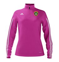 adidas County Meath GAA Mi Team 14 Quarter Zip - Womens - Intense Pink/White