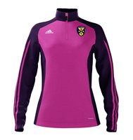 Adidas County Cavan GAA Mi Team 14 Quarter Zip - Womens - Intense Pink/Collegiate Purple