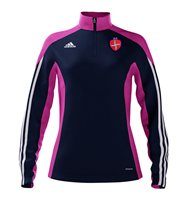 adidas Mi County Louth GAA Mi Team 14 Quarter Zip - Womens - New Navy/Intense Pink/White