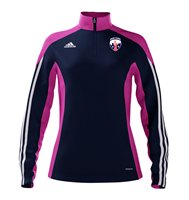 adidas Mi County New York GAA Mi Team 14 Quarter Zip - Womens - New Navy/Intense Pink/White