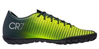 Nike MercurialX Vapor XI CR7 Turf Football Boots - Youth - Seaweed/Volt/Hasta/White
