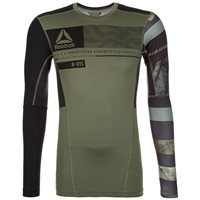 Reebok One Series Activchill LS Compression Top - Mens - Canopy Green