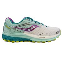 Saucony Ride 9 Running Shoes - Womens - White/Tea/Purple