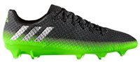 adidas Messi 16.1 FG Football Boots - Adult - Dark Grey/Silver Met/Solar Green