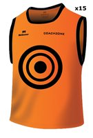 Mc Keever Coachzone Mesh Target Training Bibs (Youth) - 15 Pack - Orange