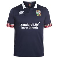 Canterbury British and Irish Lions Rugby Short Sleeve Pro Training Jersey - Adult - Peacoat