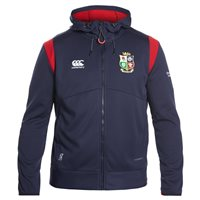 Canterbury British and Irish Lions Rugby Thermoreg Spacer Fleece Full Zip Hoodie - Adult - Peacoat