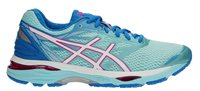 Asics Gel Cumulus 18 Running Shoes - Womens - Aqua/Splash/White/Pink Glow