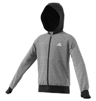 adidas Ace Full Zip Hoodie - Boys - Core Heather/White
