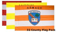The GAA Store 32 County GAA Flag Pack