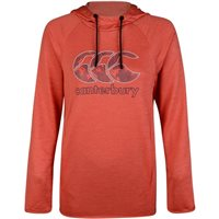 Canterbury Poly Fleece Hoodie - Womens - Hot Coral/Marl