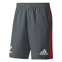 adidas New Zealand All Blacks 2017/18 Shorts - Adult - Solid Grey/Energy/White