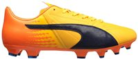 Puma Evospeed 17.2 Leather FG Football Boots - Adult - Yellow/Peacoat/Orange