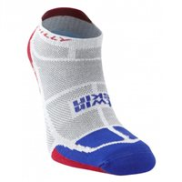 Hilly Twinskin Socklet - Mens - Grey/Electric Blue/Red