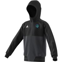 adidas County Fermanagh GAA Tiro 17 Presentation Jacket - Youth - Black/Grey