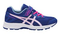 Asics Pre Galaxy 9 Running Shoes - Girls - Blue Purple/White