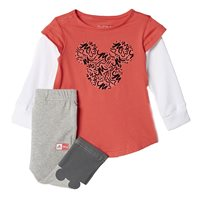 adidas Disney Mickey Mouse Jogger Set - Infant Girls - Core Pink/White