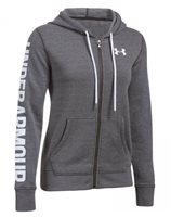 Under Armour Favourite Full Zip Hoodie - Womens - Carbon Heather/White