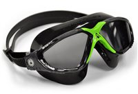 Aqua Sphere Vista Swimming Goggles - Black/Green Clear