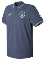 New Balance FAI Republic of Ireland 2017/18 Elite Media Power Polo - Adult - Navy Marl