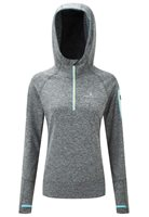 Ronhill Momentum Victory Hoodie - Womens - Charcoal Marl/Cyan