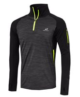 Pro Touch Renzo IV UX Long Sleeve 1/4 Zip - Mens - Black/Melange/Yellow