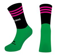 Mc Keever St Colmans Community College Mid 3 Bar Socks - Youth - Green/Black/Pink