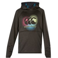 Canterbury Poly Fleece Over Head Hoodie - Girls - Black Marl