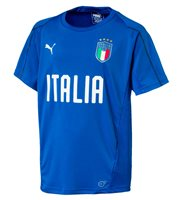 Puma Italy FC 2017/18 Short Sleeve Training Jersey - Youth - Power Blue/Puma White