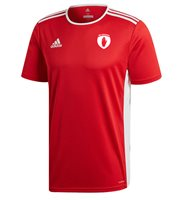 adidas County Tyrone GAA Entrada 18 Jersey - Adult - Red/White