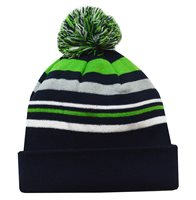 Mc Keever Beanie Hat - Green/Grey/Navy