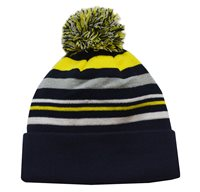 Mc Keever Beanie Hat - Yellow/Grey/Navy