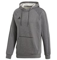 adidas Core 18 Hoodie - Adult - Dark Grey/White