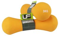 UFE Neoprene Covered Dumbbells - 2 x 3kg - Orange