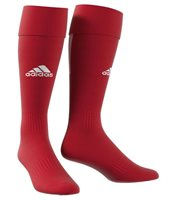 adidas Santos 18 3 Stripe Football Socks - Power Red/White