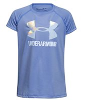 Under Armour Solid Big Logo Tee - Girls - Blue