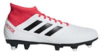 adidas Predator 18.3 SG Football Boots - Adult - White/Black/Real Coral